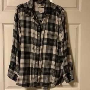 American Eagle Outfitters LS Plaid Flannel Shirt